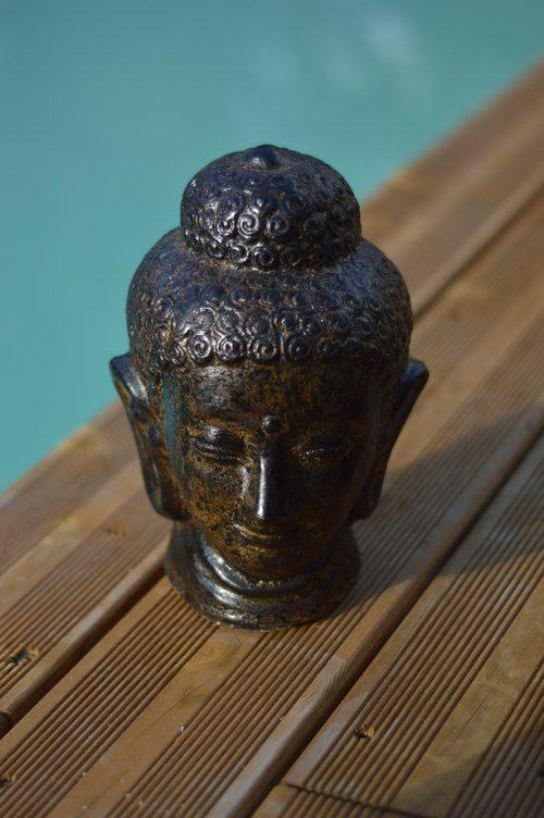 Bouddha Marron Brûlé Taille S - Objet Déco Bali